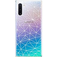 iSaprio Abstract Triangles 03 - White for Samsung Galaxy Note 10 - Mobile Case