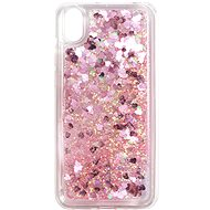iWill Glitter Liquid Heart Case for HUAWEI Y5 (2019)/Honor 8S, Pink - Mobile Case
