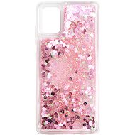 iWill Glitter Liquid Heart Case for Samsung Galaxy A51, Pink - Mobile Case