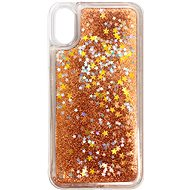 iWill Glitter Liquid Star Case for Apple iPhone X/Xs, Rose Gold