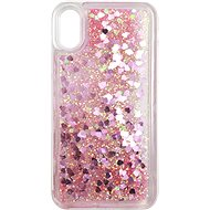 iWill Glitter Liquid Heart Case for Apple iPhone X/Xs, Pink