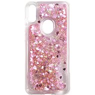 iWill Glitter Liquid Heart Case for Honor 8A/Huawei Y6s, Pink - Mobile Case