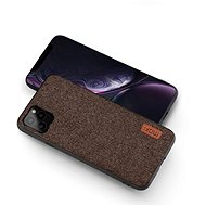 MoFi Fabric Back Cover for iPhone 11 Pro Max Brown - Mobile Case