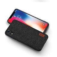 MoFi Fabric Back Cover for iPhone Xr Black - Mobile Case