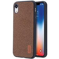 MoFi Fabric Back Cover for iPhone Xr Brown - Mobile Case
