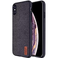 MoFi Fabric Back Cover for iPhone Xs Black - Mobile Case