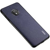 MoFi Litchi PU Leather Case for Motorola G7 Power Blue