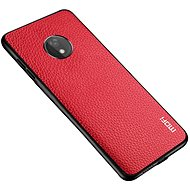 MoFi Litchi PU Leather Case for Motorola G7 Power Red
