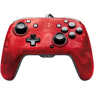 PDP Faceoff Deluxe+ Audio Controller - Red - Nintendo Switch - Gamepad