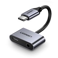 Ugreen Type-C (USB-C) To 3.5mm Jack (F) + Type-C (F) Adapter Silver - Adapter