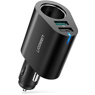 Ugreen Dual USB (18W QC 3.0 + 12W) + Extended Cigarette Socket 60W Black - Car Charger