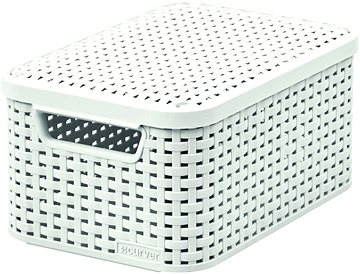 rattan basket small from storage box.htm curver storage basket rattan style2 with lid s storage box  curver storage basket rattan style2
