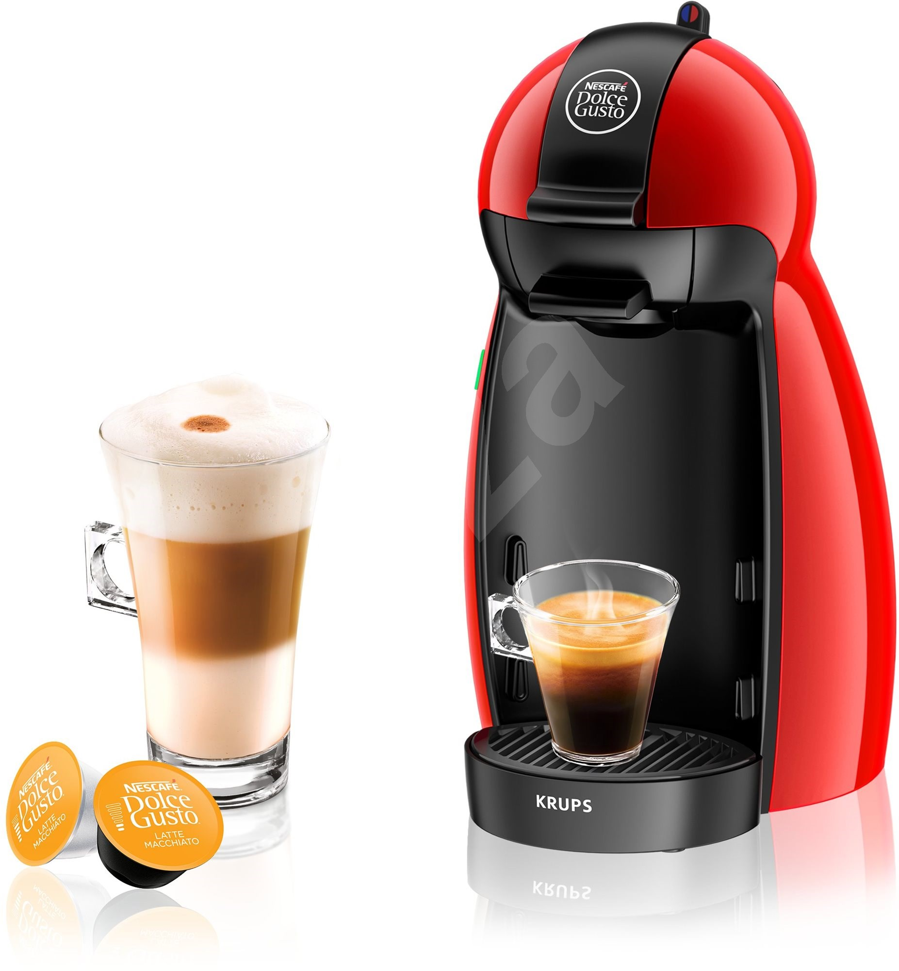 krups nescaf dolce gusto kp1006ce piccolo red capsule. Black Bedroom Furniture Sets. Home Design Ideas