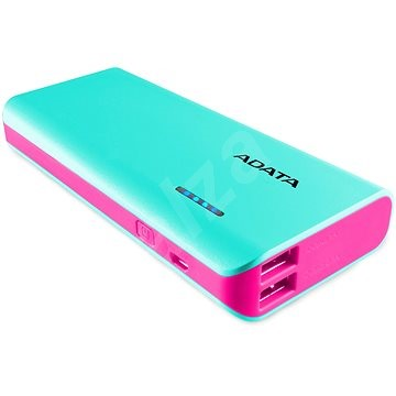 ADATA PT100 Power Bank 10,000mAh Turquoise-Pink