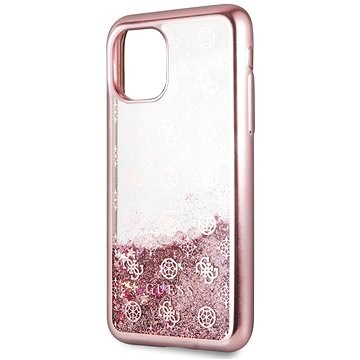 Guess 4G Peony Glitter for iPhone 11, Rose (EU Blister)
