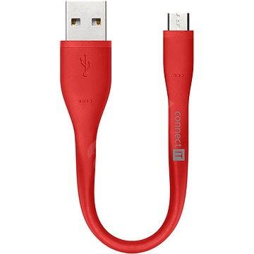 CONNECT IT Wirez Micro USB red, 0.13m