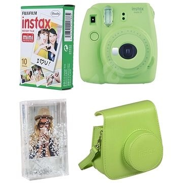 Fujifilm Instax Mini 9 Lime + 10x Photo Paper + Case