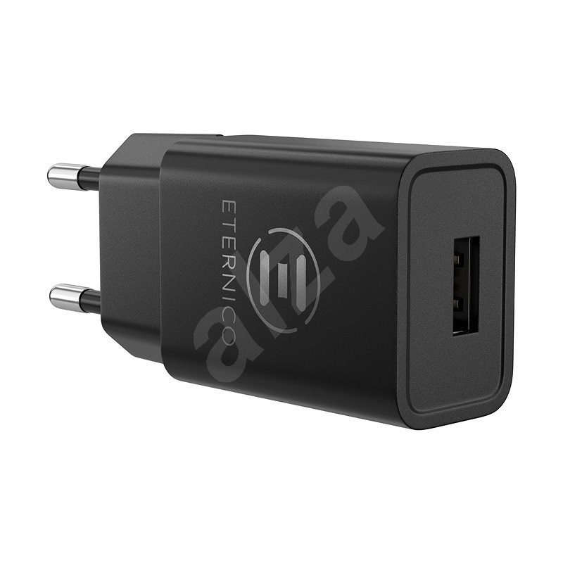 Eternico Wall Charger 1x USB 2.4A Black - AC Adapter