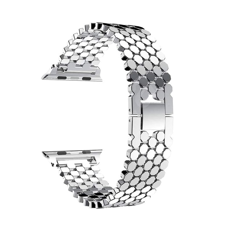 Eternico 42mm / 44mm Metal Band Silver for Apple Watch - Watch Band