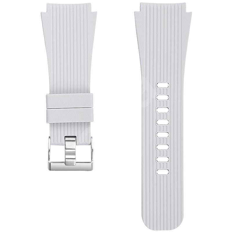 Eternico Quick Release 22 Silicone Vertical Grain Silver Buckle silver for Samsung Galaxy Watch - Watch Band