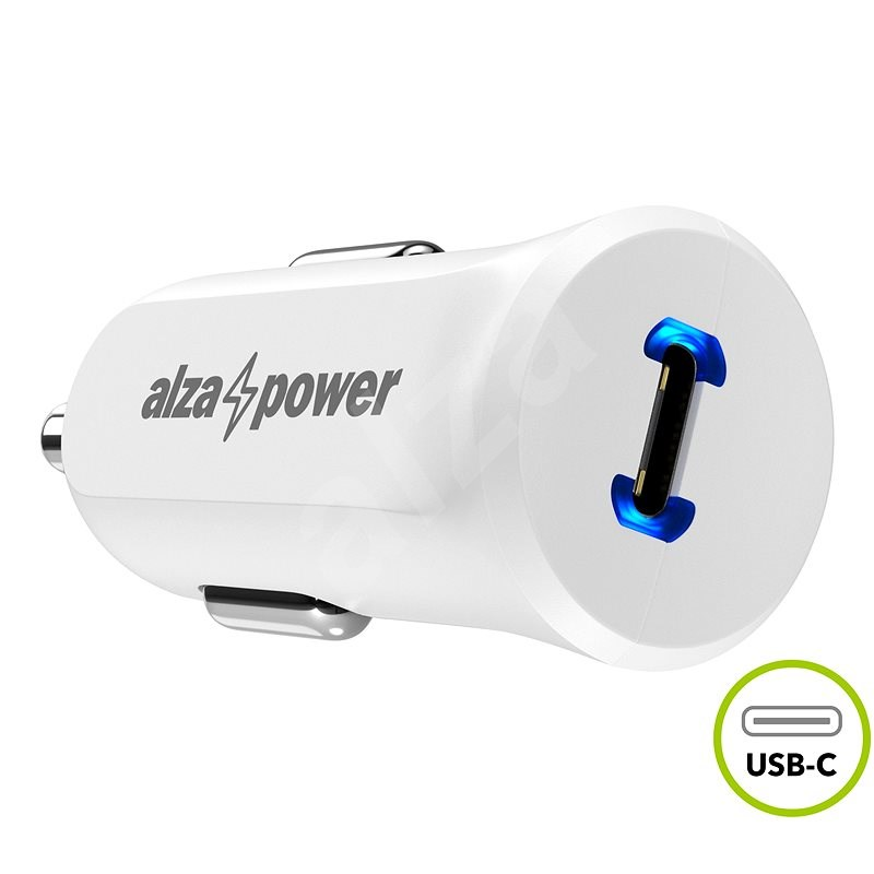 AlzaPower Car Charger P310 Power Delivery White - Car Charger