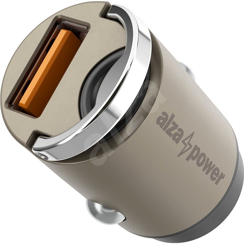AlzaPower Car Charger M110 Fast Charge Mini Silver - Car Charger