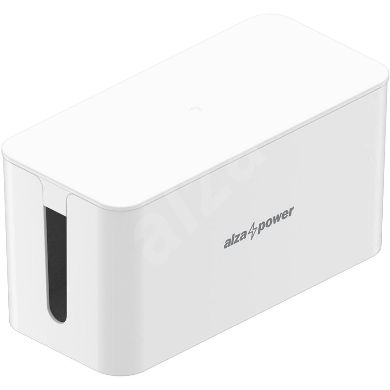AlzaPower Cable Box Basic, Small, White - Cable Organiser
