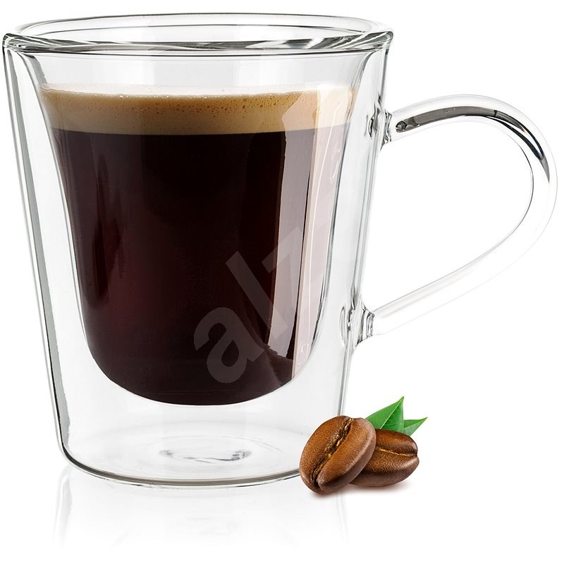 BANQUET Double wall glass mug DOBLO 110ml 4pcs - Glass for Hot Drinks