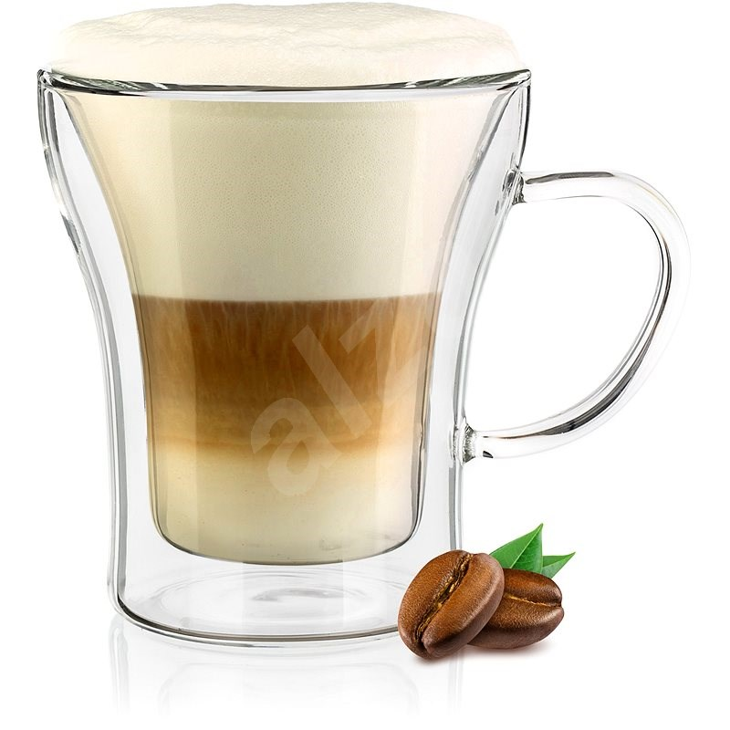 BANQUET Double Wall Glass Mug DOBLO 200ml 4 pcs - Glass for Hot Drinks