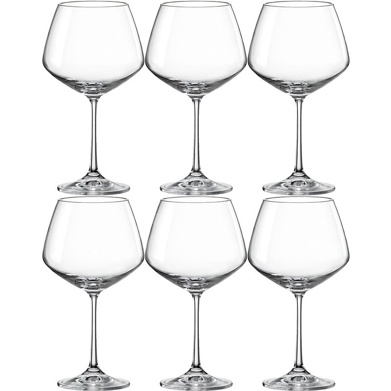 Crystalex Red wine glasses 580 ml GISELLE 6pcs - Red Wine Glass