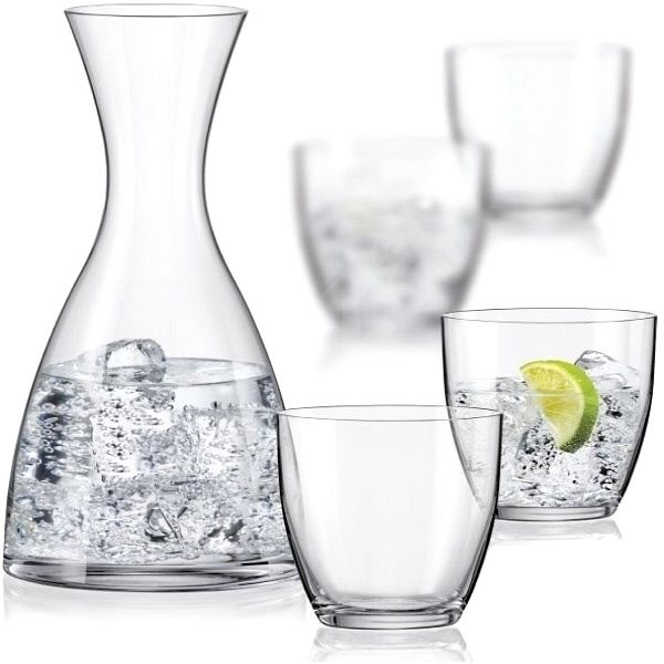 Crystalex WATER SET carafe and water glasses 5pcs - Drinking Glass