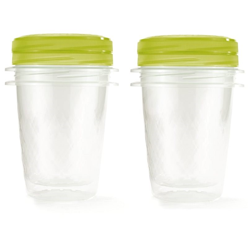 CURVER TAKE AWAY TWIST - set 2x 1l, green lid - Food Container Set