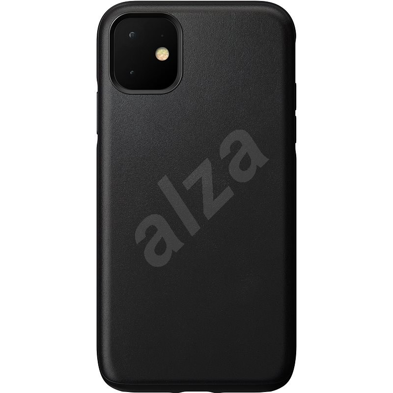Nomad Rugged Leather Case  for iPhone 11, Black - Mobile Case