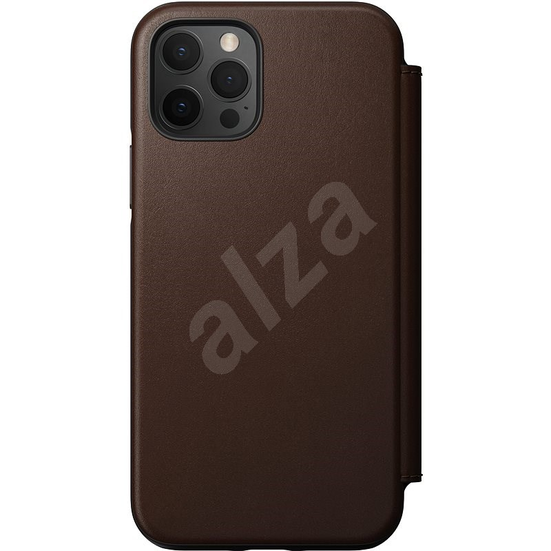 Nomad Rugged Folio Brown iPhone 12/iPhone 12 Pro - Mobile Case