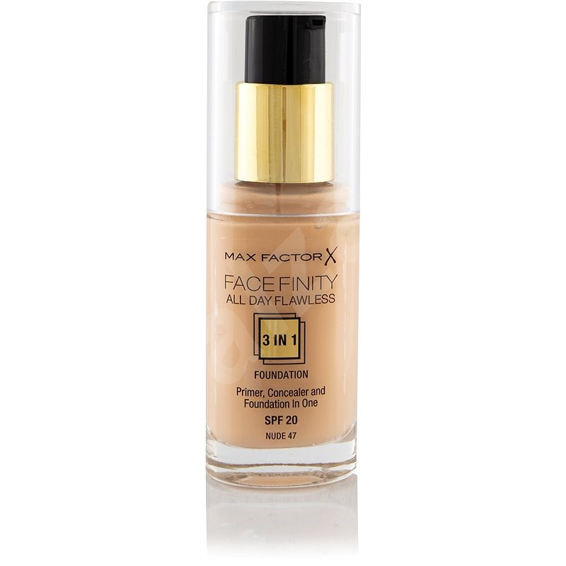 MAX FACTOR Facefinity All Day Flawless 3-in-1 Foundation SPF20 47 Nude 30ml