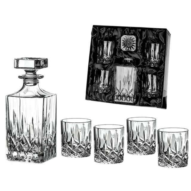 Diamante Whiskey Set Dorchester in Satin Package 1 + 4 - Whisky Set