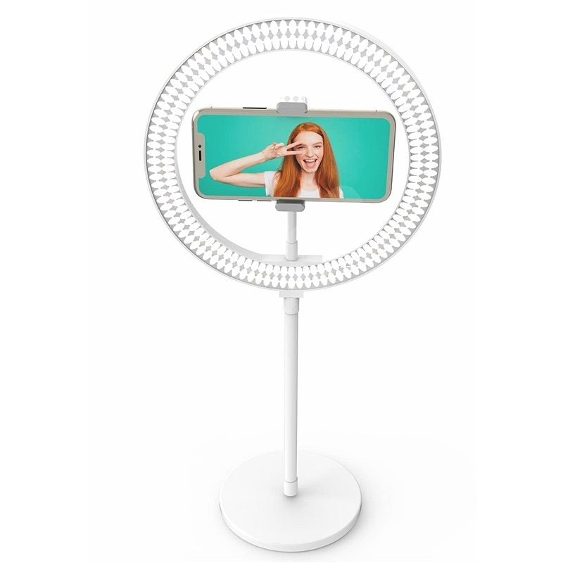 """Digipower My Story 10"""" Desk Top Ring Light with Remote - Mobile Phone Holder"""