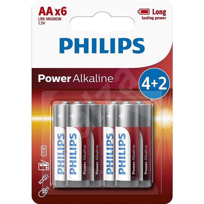 Philips LR6P6BP 6pcs in pack - Disposable Battery