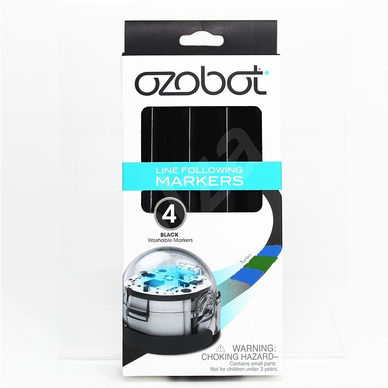 Ozobot Set of Wipable , Markers - Black - Robot Accessory