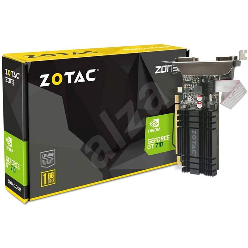 ZOTAC GeForce GT 710 ZONE Edition Low Profile 1GB DDR3 - Graphics Card