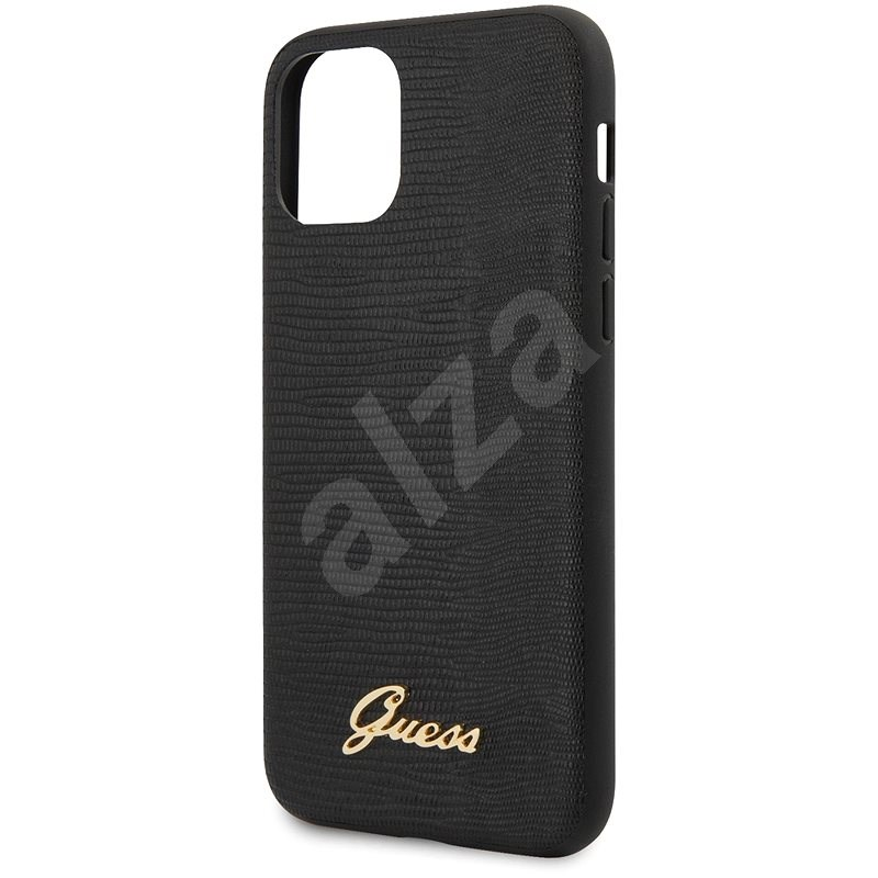 Guess Lizard for iPhone 11 Pro Max, Black - Mobile Case
