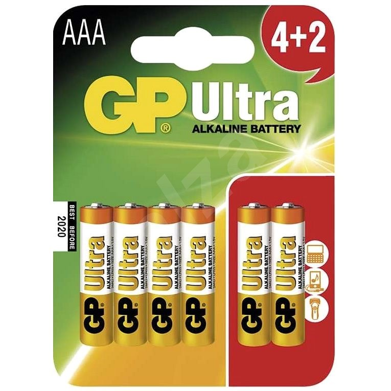 GP Ultra Alkaline LR03 (AAA) 4+2 pcs in blister pack - Disposable Battery