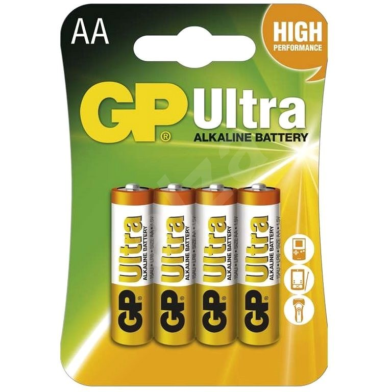 GP Ultra Alkaline LR6 (AA) 4pcs in blister pack - Disposable Battery