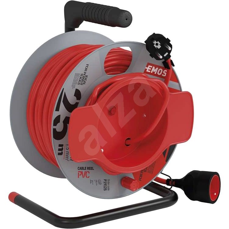 EMOS PVC Extension Cord on Reel - Coupling, 25m, 1,5mm2 - Extension Cord