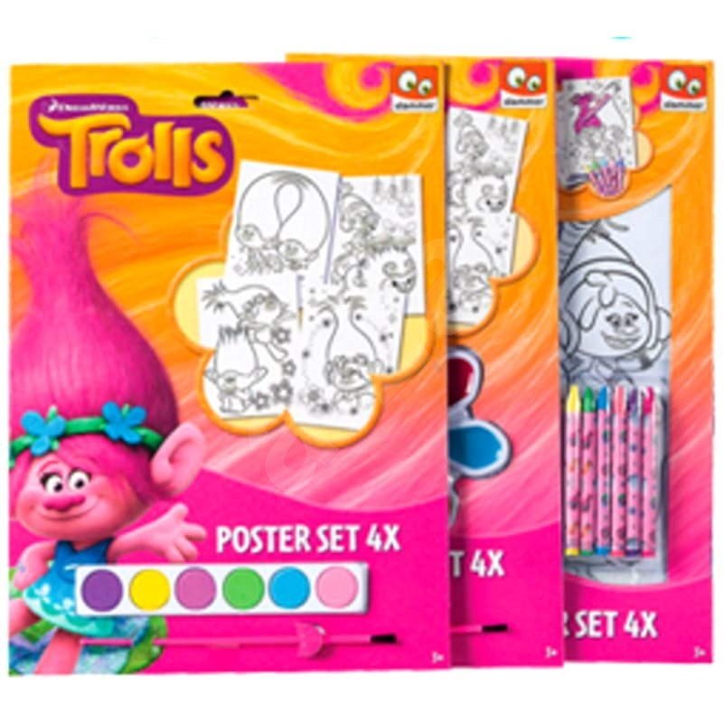 Troll set of 4 dyed plasters - Creative Kit