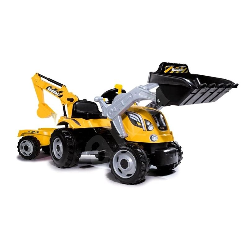Smoby Ride on Builder Max Peddle Tractor with Trailer - Pedal Tractor