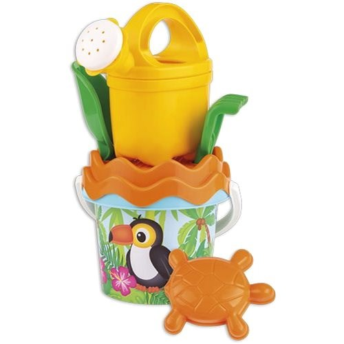 Androni Set of Sand Toucan with Teapot - Small - Sand Tool Kit