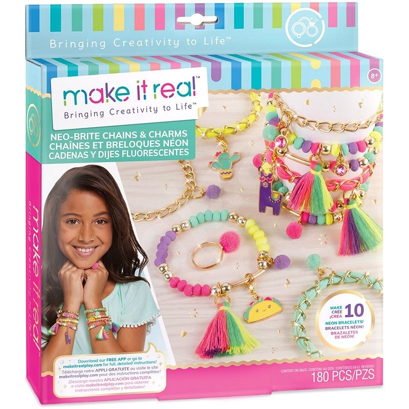 Make It Real Bracelets with Tassels and Ring - Jewellery Making Set
