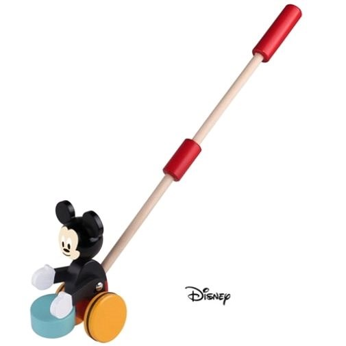 Derrson Disney Wooden Mickey Mouse on a Rod - Push and Pull Toy