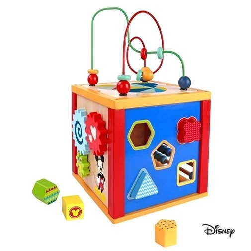 Derrson Disney multifunctional cube Mickey Mouse 5in1 - Wooden Toy